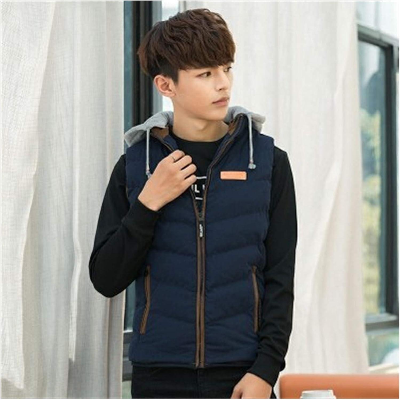 LYLY Vest Women Sleeveless Jacket Vest Jacket Mens Autumn Warm Sleeveless Jacket Hooded Winter Casual Waistcoat Men Vest Plus Coats Vest Warm (Color : Blue, Size : S)