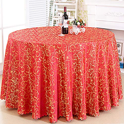 "Cozomiz Jacquard Tablecloth Party Table Cover Table Runner for Wedding Party Dining Room Table Linens Rectangular Round Tablecloth Round:70"" Inch Pink"