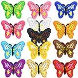 Gresunny 13pcs Parches Bordados Mariposa Parches de Mariposas para Ropa Pegatinas Termoadhesivos Insignia Bordada Apliques Parche de Planchar y Coser para DIY Decoración Camiseta Chaqueta