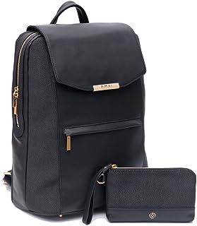 P.MAI Valletta Backpack & Wristlet 15 inches Valletta Black
