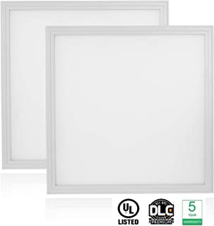 Cortelco LED Panel Light, Troffer Drop Ceiling Flat Panel Light 2x2FT, Dimmable 0-10V Edge-Lit Light Fixture, 36W, 4680Lumens, 5000K, DLC&UL Listed, 2 Pack