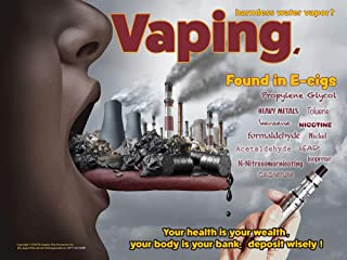 Your Health is Your Wealth - Tobacco Education Anti-Vaping (Laminated Poster)