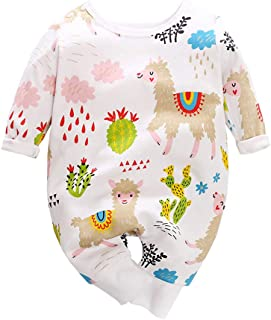 Mornyray Unisex Babies Romper Animals Print Cotton Single-Breasted Baby Bodysuit Jumpsuit