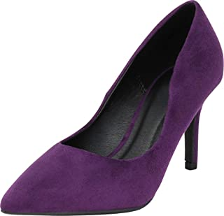 Cambridge Select Women's Classic Pointed Toe Stiletto High Heel Pump
