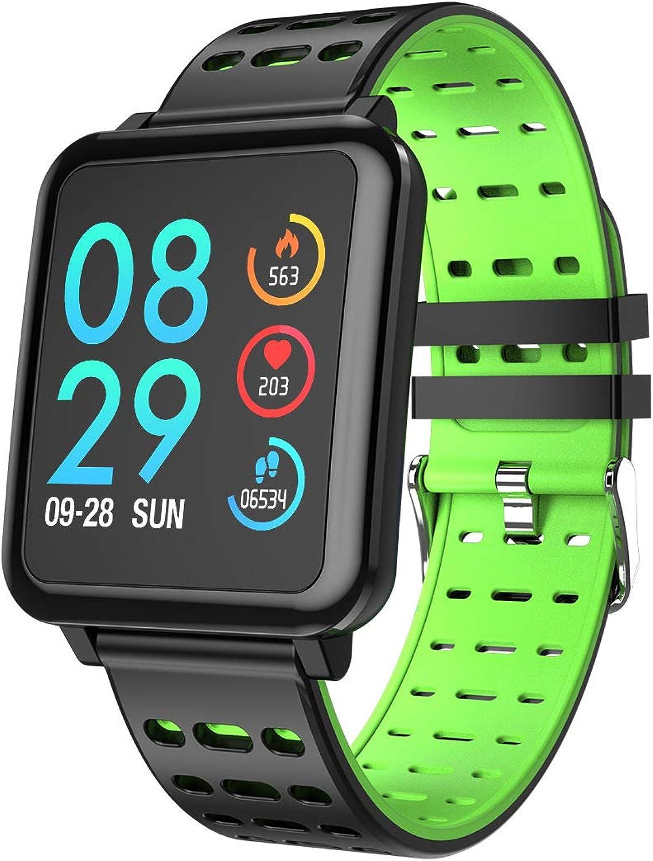 Smart Bracelet, 1.3 inch color IPS color Screen Heart Rate Blood Pressure Sleep MultiSports Mode blueeetooth Waterproof Fitness Tracker,2