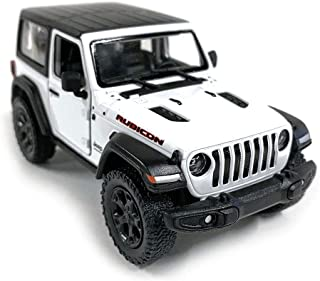 Jeep Wrangler Rubicon 4x4 Hard Top Off Road Exploration Diecast Model Toy Car White