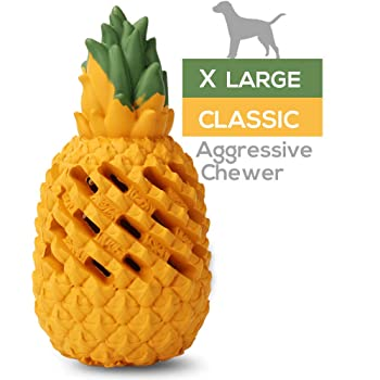 M.C.works Pineapple Dog Chew Toys for Aggressive Chewer, Tough Dog Dental Chews Toy, Indestructible Dog Toys for Large Dogs, Food Grade Puppy Toys