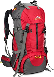 603f67722 SKYSPER 50L Mochilas de Senderismo al Aire Libre Mochila de Senderismo  Macutos Impermeable Ergonómica para Viajes