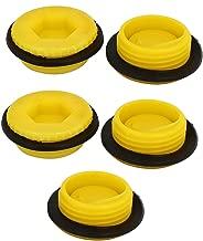 X-Dr M27 Hex Socket Design Plastic Male Threaded Sealing Cap Yellow 5pcs (50e15d0c-a222-11e9-8d7c-4cedfbbbda4e)
