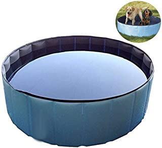 Foldable Pet Paddling Pool, Portable Baby Tub & Pet Bathing Tub - Outdoor Small Paddling Pools for Dogs/Cats/Kids (80X20cm)