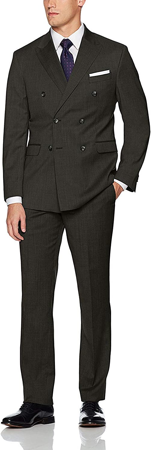 Excellent HOTK Men's Suits Business Formal Breast Made Max 88% OFF Custom Double