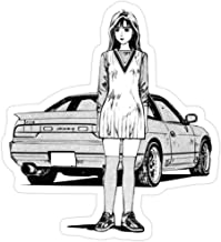 Sticker Vinyl Decal for Cars, Water Bottle, Fridge, Laptop - Initial D Sileighty Nissan 180sx/240sx Stickers (3 Pcs/Pack)
