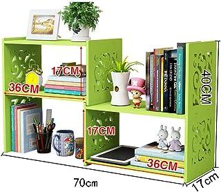XiaoXIAO Estantería - Estantería de escritorio Estiramiento Estantería pequeña Estantería organizadora de escritorio Estantería de almacenamiento de escritorio Estantería simple para estudiantes mini