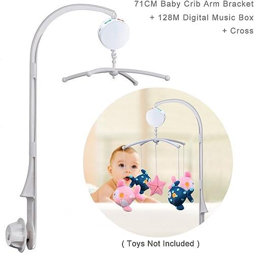 ahorra hasta un 30-50% de descuento 71 cm (28 (28 (28 pulgadas) de altura para cuna de bebé, campana, juguetes, soporte para brazo, tornillo de tuerca Talla CROSS+DIGITAL MUSIC BOX  descuento online