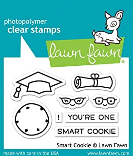"Lawn Fawn Clear Stamps 3""x2""-smart Cookie"