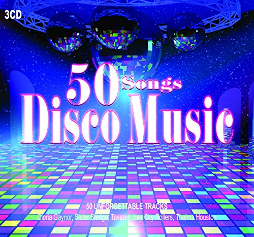 3CD 50 Songs Disco Music, Gloria Gaynor, Donna Summer, Dance Music, Disco Music