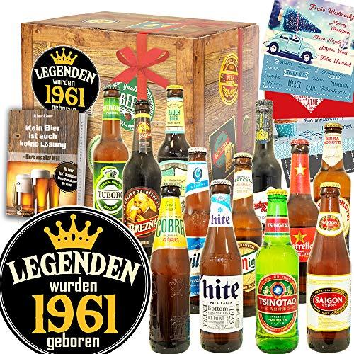 Legenden 1961 + Geschenk 1961 + 12 Biere der Welt