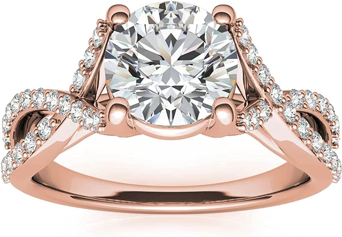 FACETS 67% OFF of fixed price JEWELS Side Stone Style 0.75 Seattle Mall Anniversary Ring Engagement