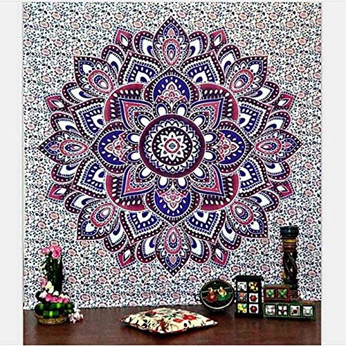KHKJ Mandala Tapiz Estilo Hippie Colgante de Pared Revestimiento de Pared Estera de Yoga decoración del hogar Toalla de Playa Mantel A5 150x130cm
