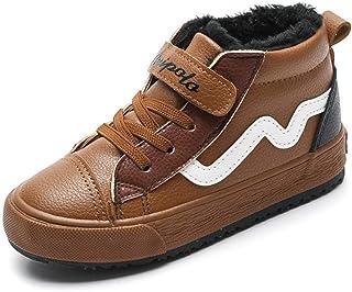 f7983e3c Niños de Invierno Botas para la Nieve Moda Botas Martin Impermeables Zapatos  de Cuero Ocasionales para