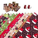 Chytaii - 12 rollos de papel de regalo, rollo de papel kraft, papel de regalo, para Halloween, cumpleaños, Navidad, bodas