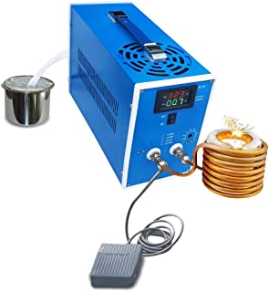 KUNHEWUHUA High Frequency Induction Furnace Heater Machine 100-240v Melting Gold/Silver/Iron Parts Quenching Annealing (Rated 2000W- Max 2800W)