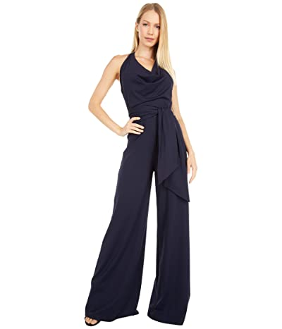 Susana Monaco Halter Cowl Neck Jumpsuit (Midnight) Women