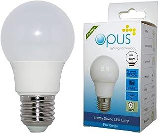3 x Opus 6W = 40W LED GLS Light Bulbs Daylight ES E27 Edison Screw Cap