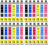 King of Flash 24xl Compatible Ink Cartridges Replacement for Epson 24 XL for Epson Expression Photo XP-970 XP-55 XP-950 XP-860 XP-960 XP-750 XP-760 XP-850 Printer (4 Sets of 6 Cartridges = 24 Inks)