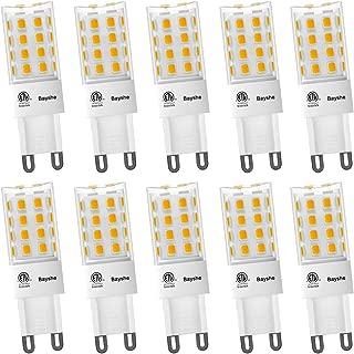 Bayshe 5W G9 LED Bulb,2700K Warm White 50watt Equivalent Light 500lm (AC 120V, ETL-Listed) 40W G9 Bi-Pin Base, Not Dimmable- Pack of 10