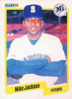 1990 Fleer Baseball #517 Mike Jackson Seattle Mariners Official MLB Trading Card