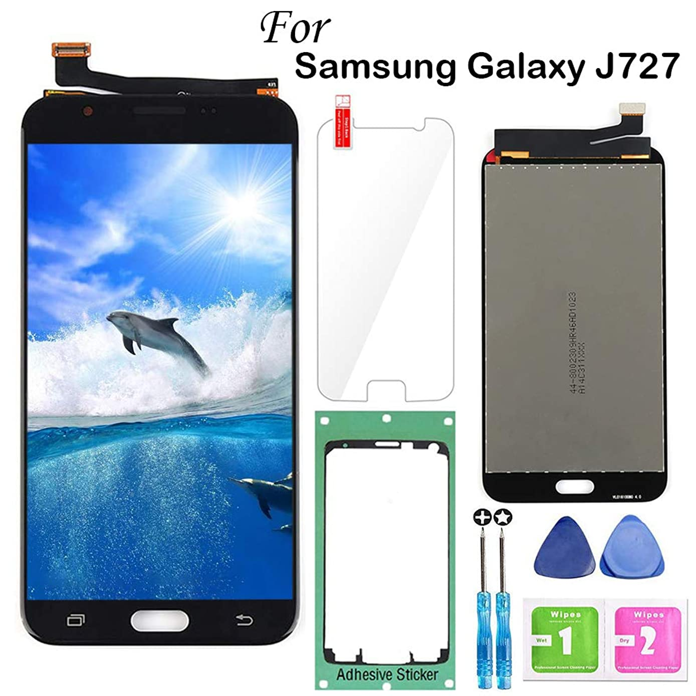for Samsung Galaxy J7 2017 Screen Replacement Black,LCD Display Touch Screen Digitizer Assembly for J7 Prime 2017 J727 J727U SM-J727T1 J727R4 J727V J727P Sky Pro J7 2017 Perx 5.5