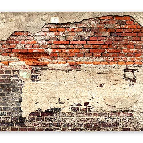murando - Fototapete Ziegelmauer 400x280 cm Vlies Tapeten Wandtapete XXL Moderne Wanddeko Design Wand Dekoration Wohnzimmer Schlafzimmer Büro Flur Ziegel Ziegelstein f-A-0503-a-b