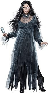 LODDD Women Halloween Terror Cosplay Costume Vintage Witch Long Sleeve Maxi Dress Demon Costume