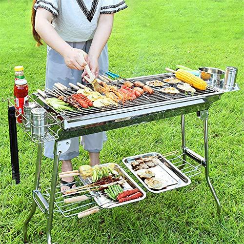CYOYO Extérieur en Acier Inoxydable Charbon De Bois Grill Barbecue Outil Portable Livraison Gratuite Poignée Pliante BBQ Cuisson Grille pour Parc