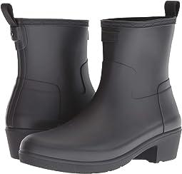 Refined Low Heel Ankle Biker Rain Boots