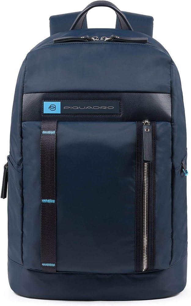 Piquadro pq-bios laptop, zaino porta pc portatile,porta tablet, in nylon econyl CA4545BIO-BLU