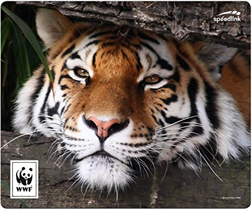 Speedlink Mousepad TERRA WWF - Recyceltes Mauspad aus Strapazierfähigem Material, Tiger