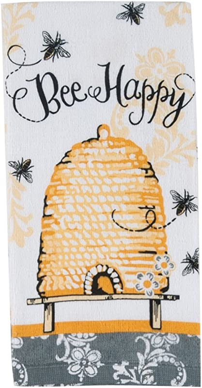 Kay Dee Designs Cotton Terry Towel 16 By 26 Inch Queen Bee