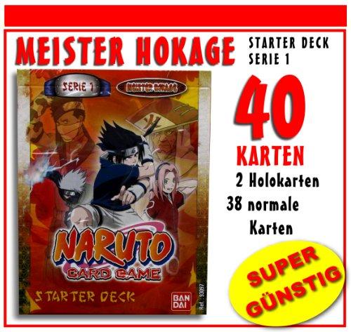 NARUTO - STARTER DECK - MEISTER HOKAGE - DEUTSCH - NEU & OVP