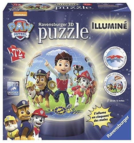 Ravensburger - Puzzle 3D Ball 72 p illuminé - Pat'Patrouille - 11787