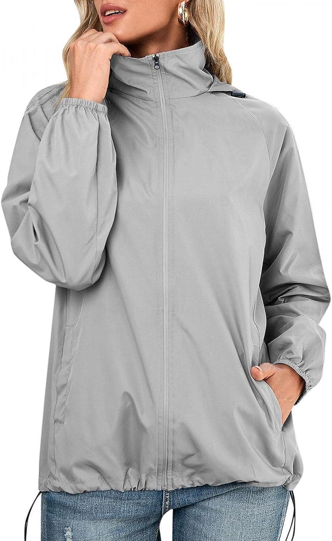 Long Sleeve Waterproof Windproof Ranking TOP12 Raincoat for Max 87% OFF Lightweigh Women -