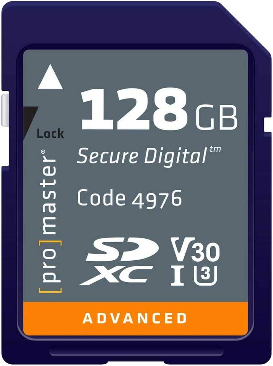 Promaster ADVANCED SDHC 128GB Memory Card 633X U3 V30