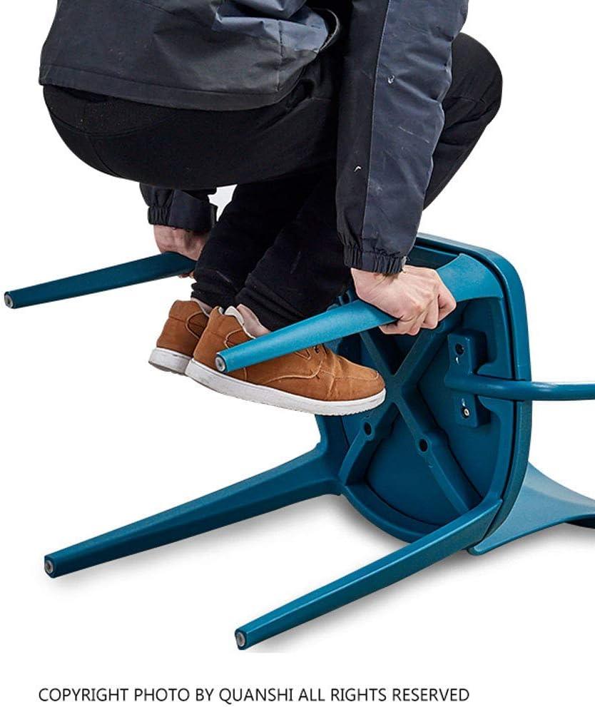 HTL Chaises de Bureau Chaise Pp Matériel Industriel Designer Retour Chaises de Cuisine Café Chaises Empilables Chaises Side Arm Accent,Vert Vert