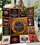 Guns n' Roses Quilt, Blanket - Unique 3D Design, Suitable for All Seasons with Mellow Cotton Material Comfortable and Luxurious.