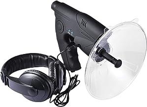 zapture Parabolic Microphone Monocular, Sound Amplifier Monocular X8 Times Long Distance Hearing, Birds Listening Telescop...