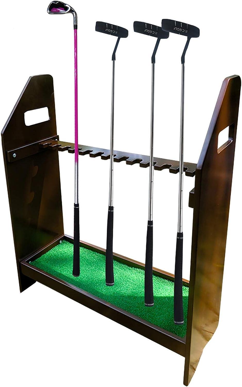 Wooden Golf safety Club Rack 13 Organizers- Putter Rare Holder