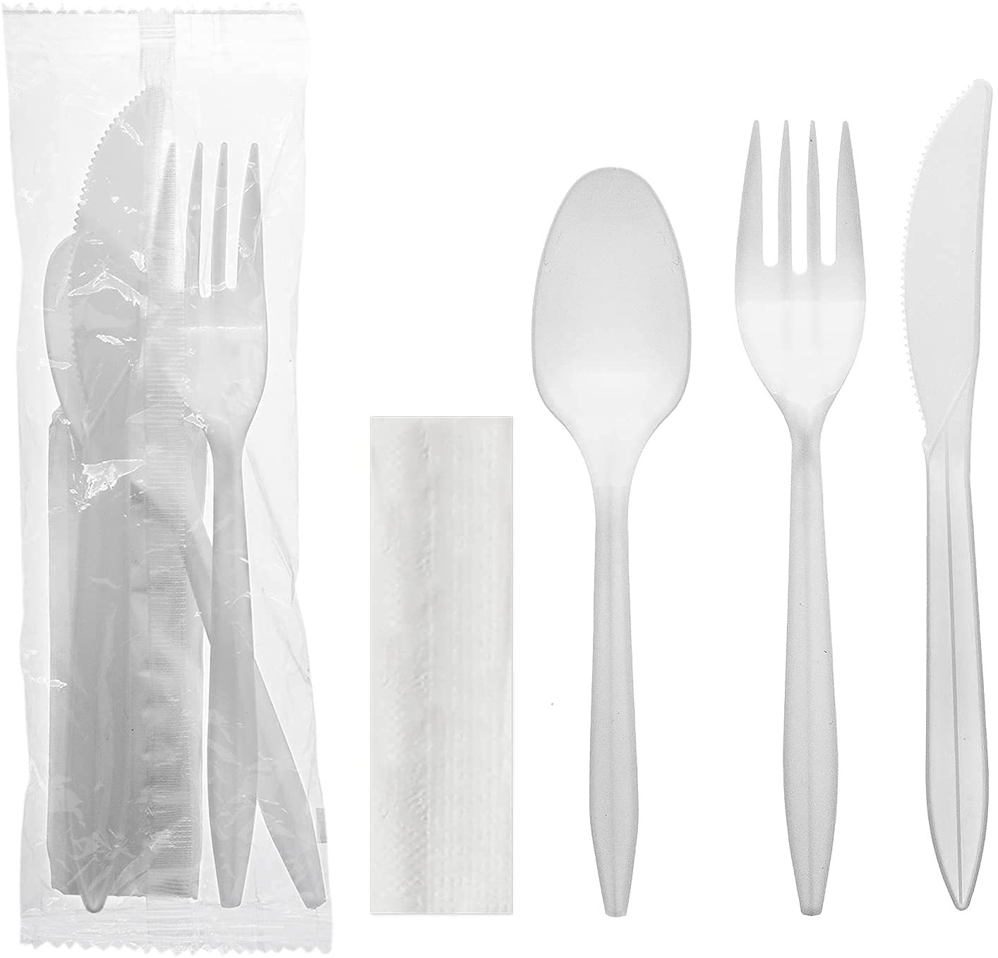 Party Essentials Individually Wrapped Silve cheap Kits Plastic Fashion Cutlery