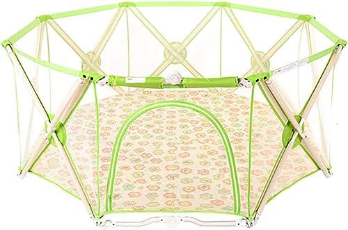 seguro de calidad Zfggd Zfggd Zfggd Baby Playpen Indoor Toddler Safely Home Playground Niños Anti-Fall Game Fence (Color   verde)  punto de venta