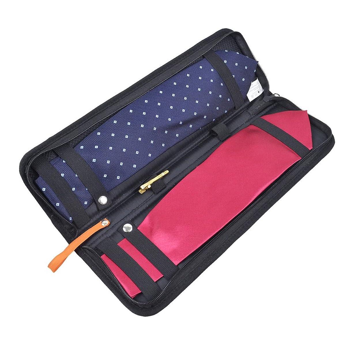 どうやら仮定情熱的ネクタイケース Abestbox? 男性用 出張 旅行 型崩れ防止 2本収納可能 携帯収納バッグ トラベル ペレゼント